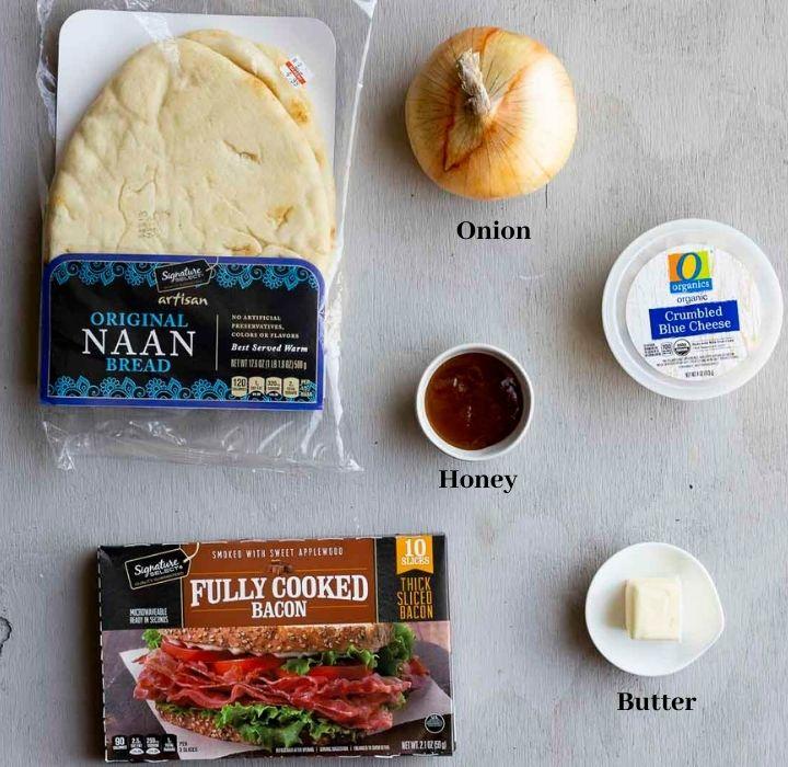ingredients for onion flatbread