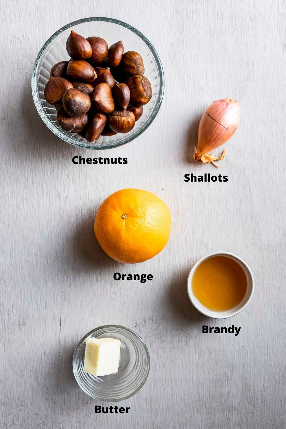 ingredients for roasted chestnuts