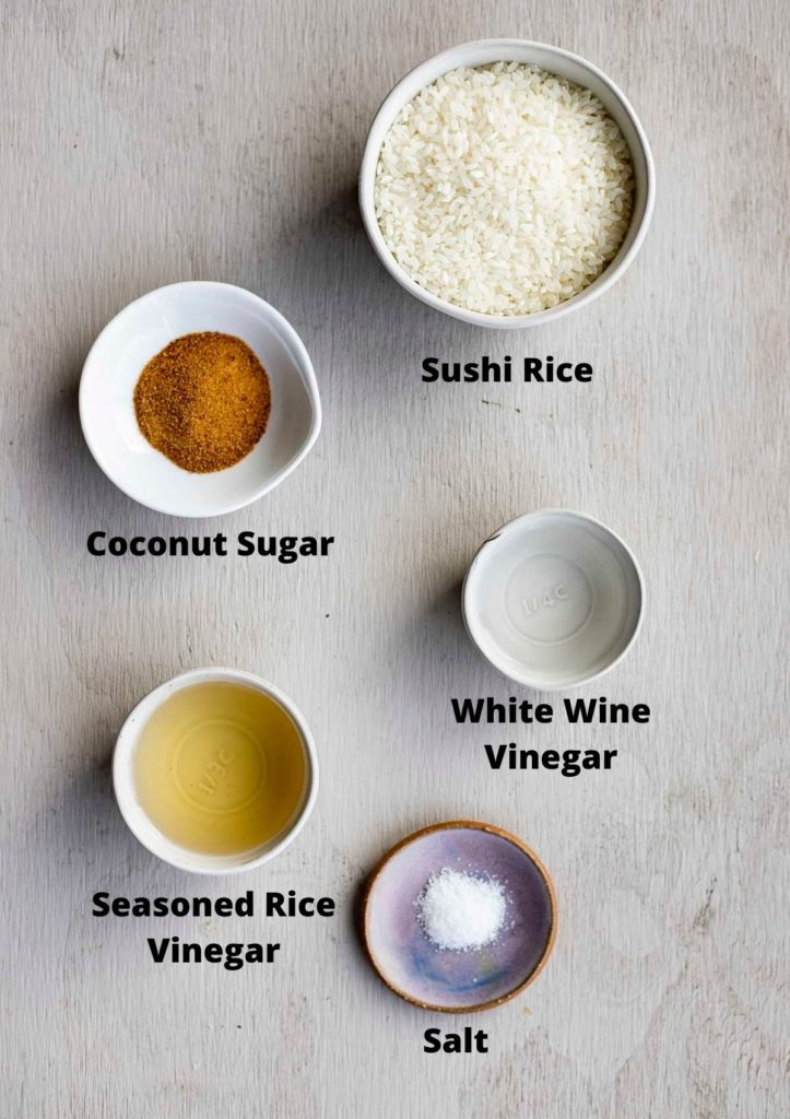 ingredients for instant pot sushi rice