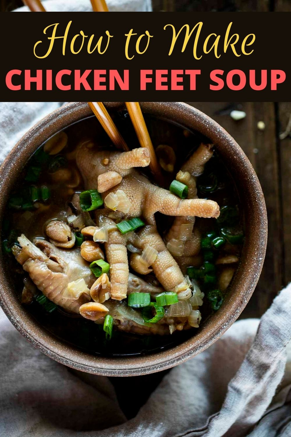 Cantonese Chicken Feet Soup with Peanuts