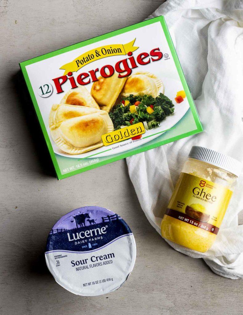 ingredients for air fryer pierogies