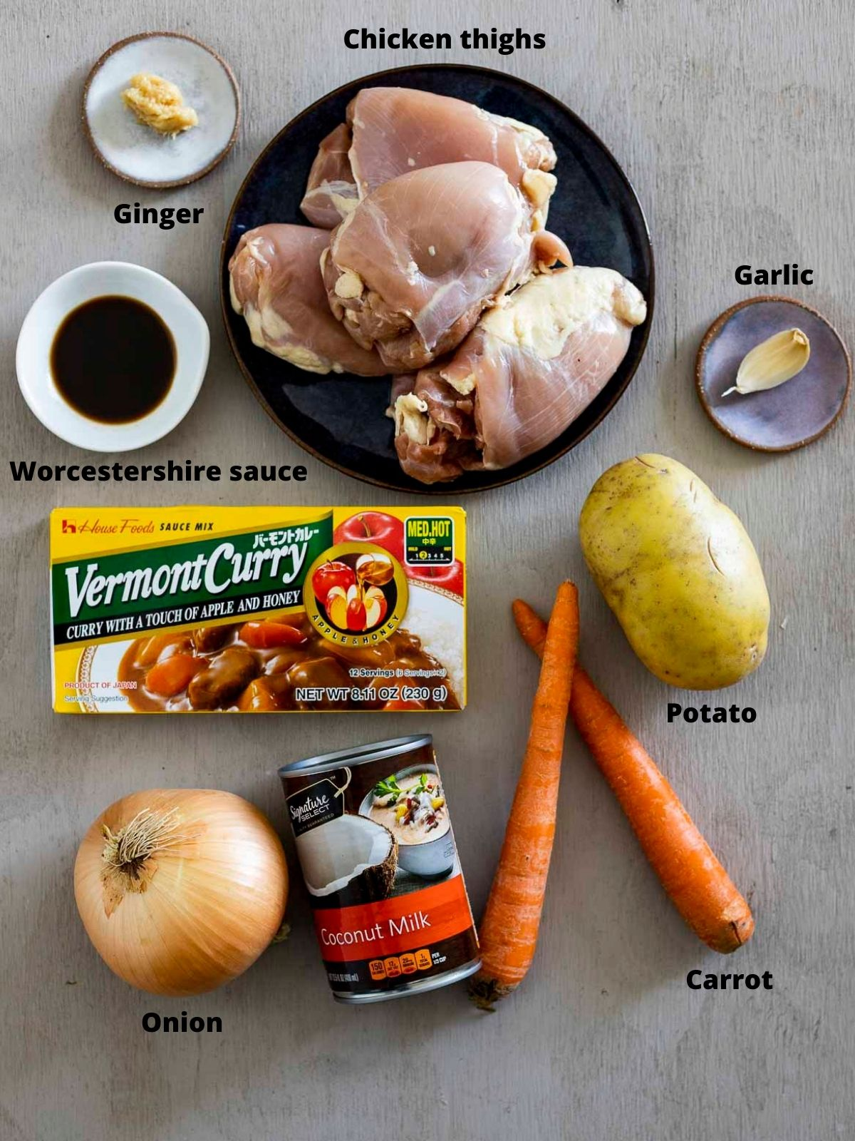 ingredients for japanese curry