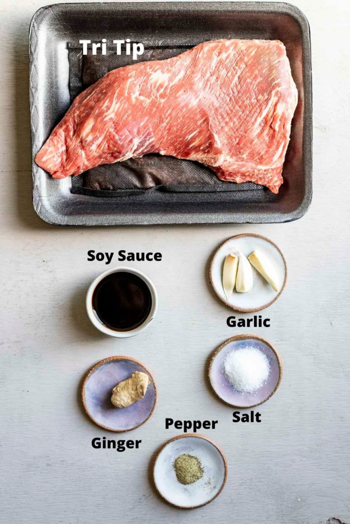 ingredients for sous vide tri tip