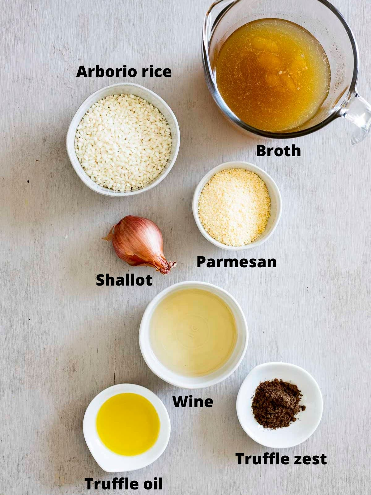 ingredients for truffle risotto