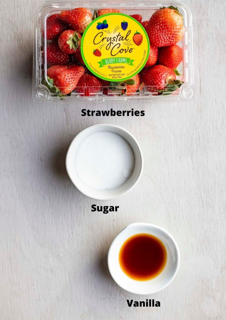 ingredients for macerated strawberries