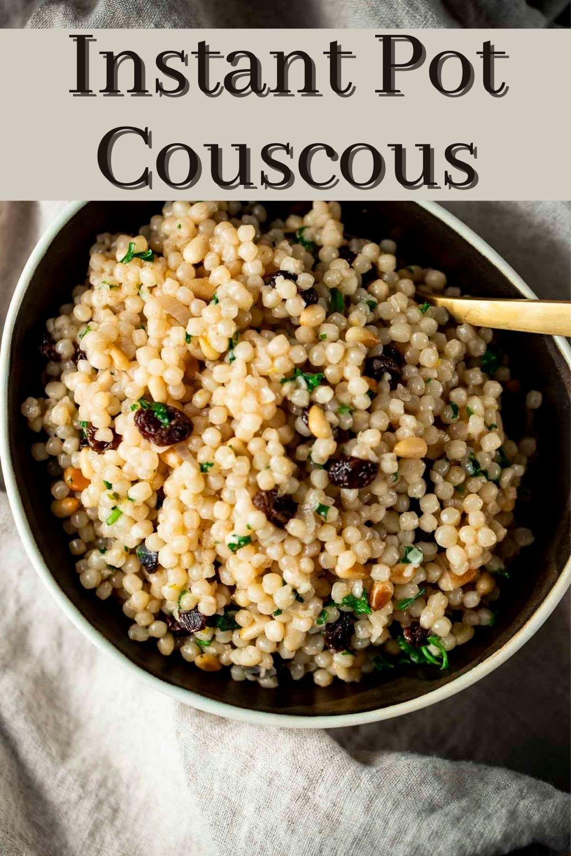 Instant Pot Couscous (Israeli Couscous)