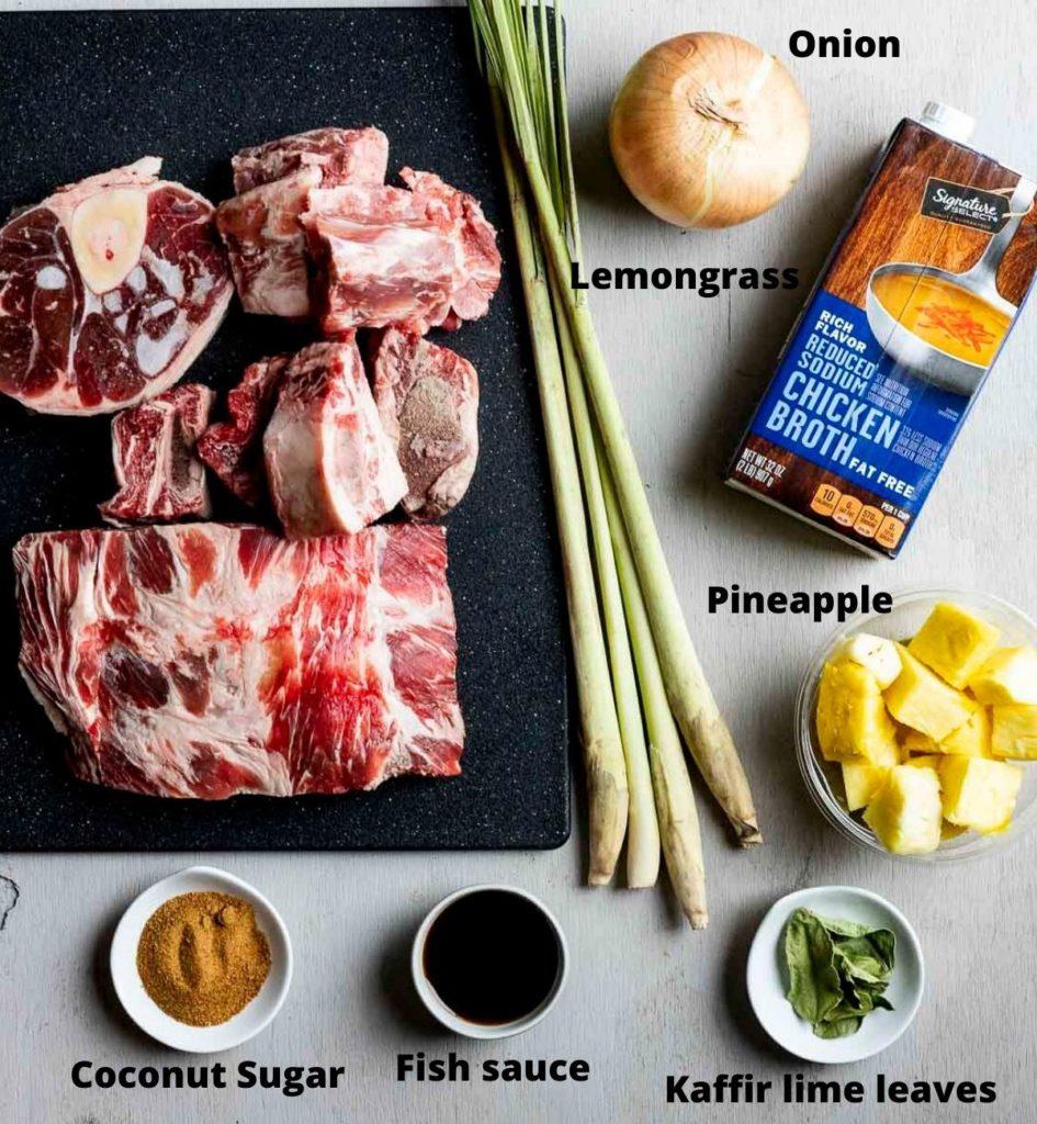 ingredients for bun bo hue