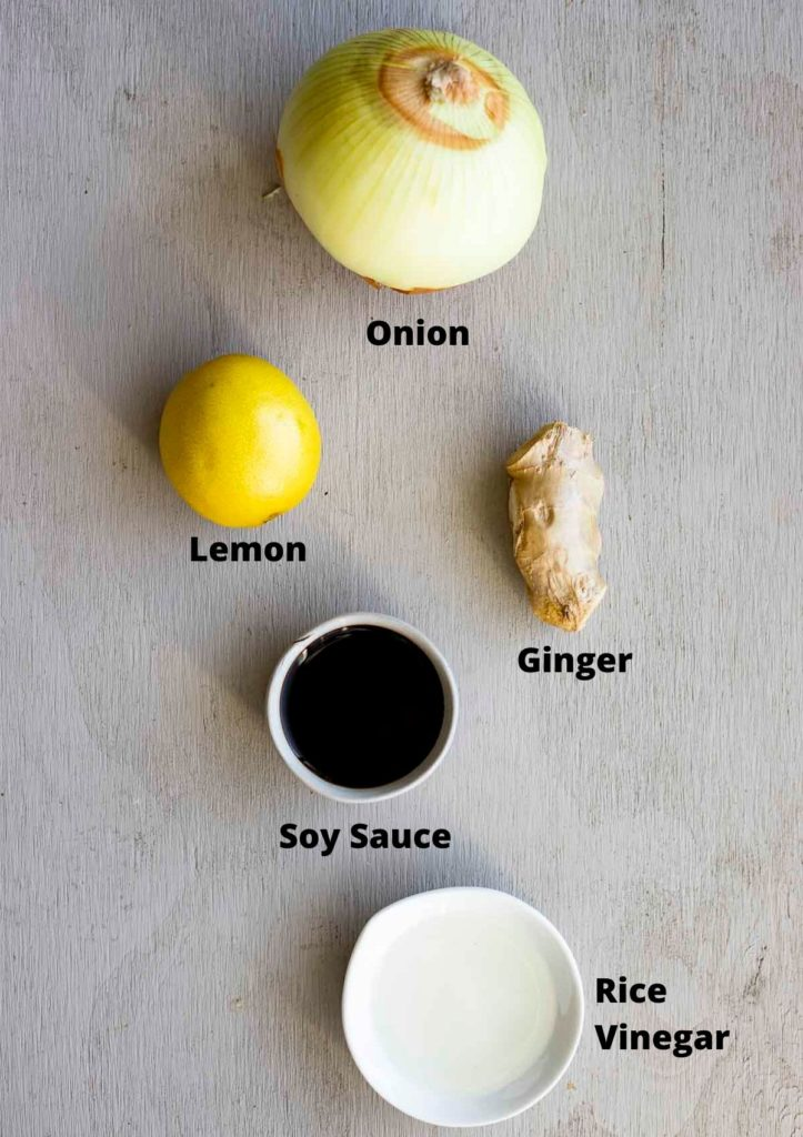 ingredients for ginger sauce