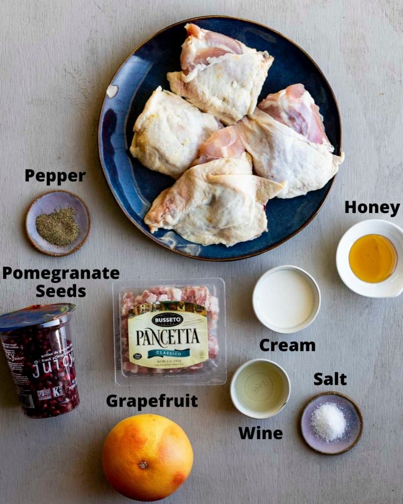 ingredients for grapefruit chicken