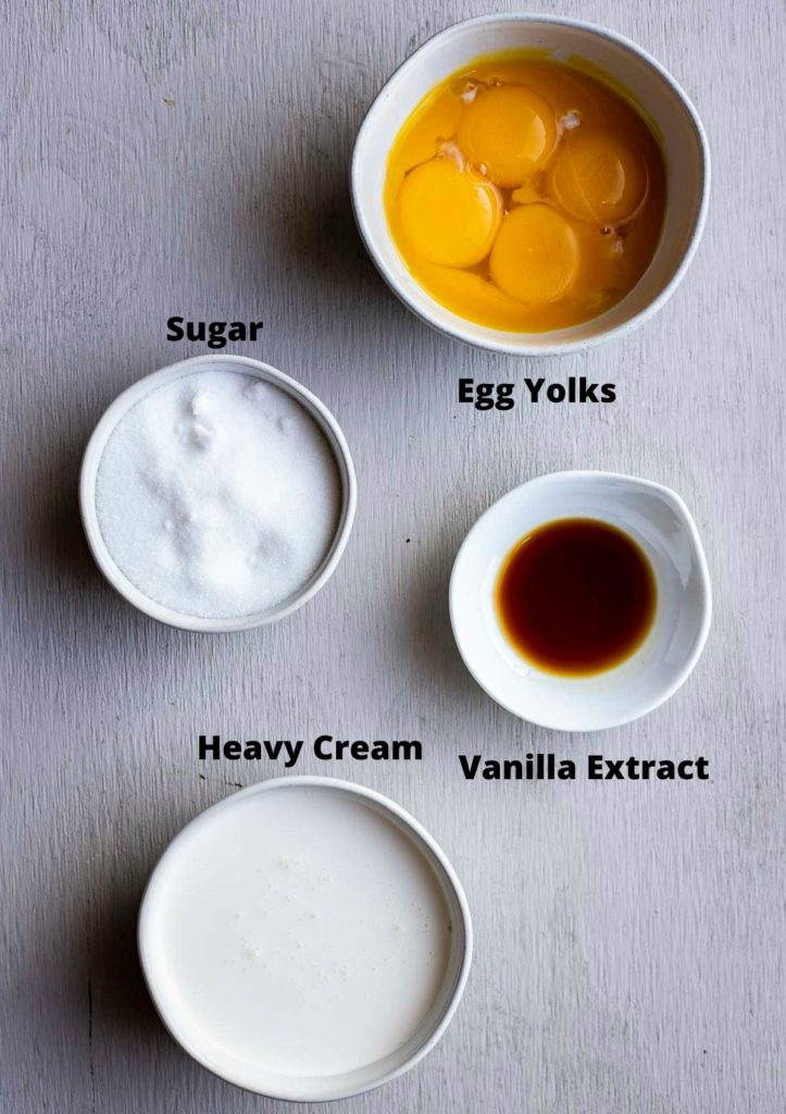 ingredients for sous vide creme brulee