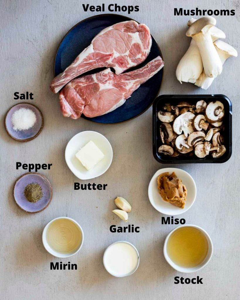 ingredients for sous vide veal chops
