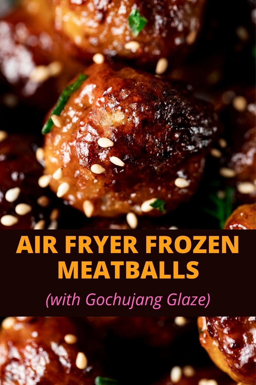 Air Fryer Frozen Meatballs with Spicy Glaze
