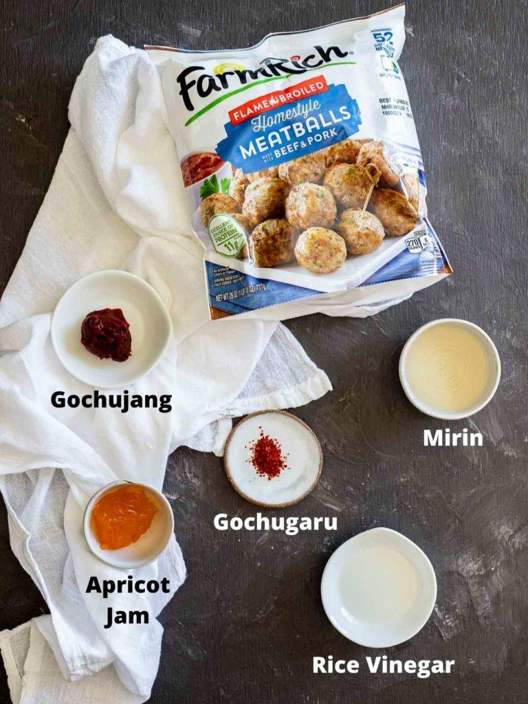 ingredients for air fryer frozen meatballs