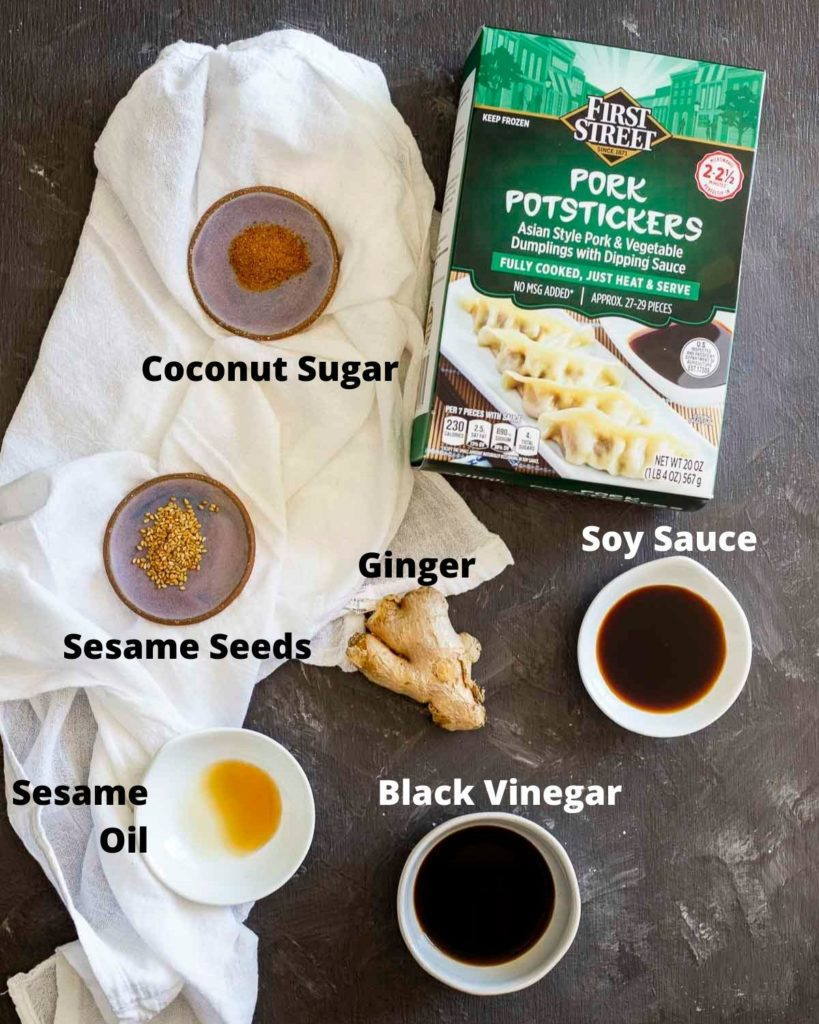ingredients for air fryer potstickers