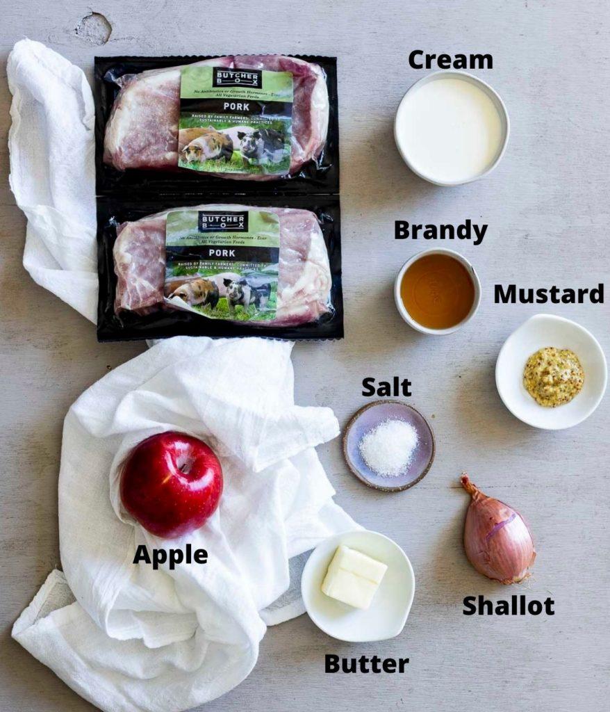 ingredients for sous vide pork chops