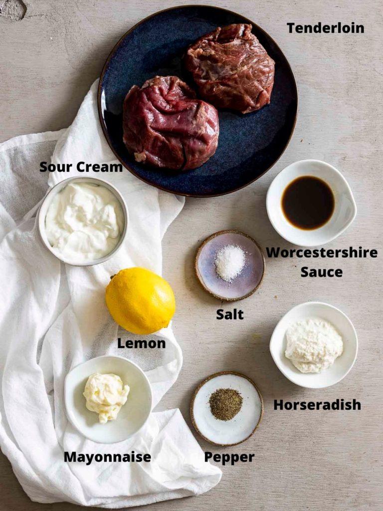 ingredients for sous vide filet mignon