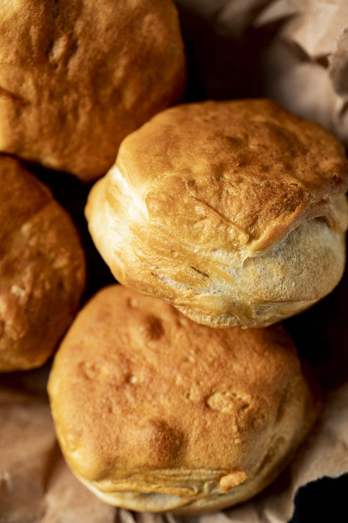 Close up of biscuits.