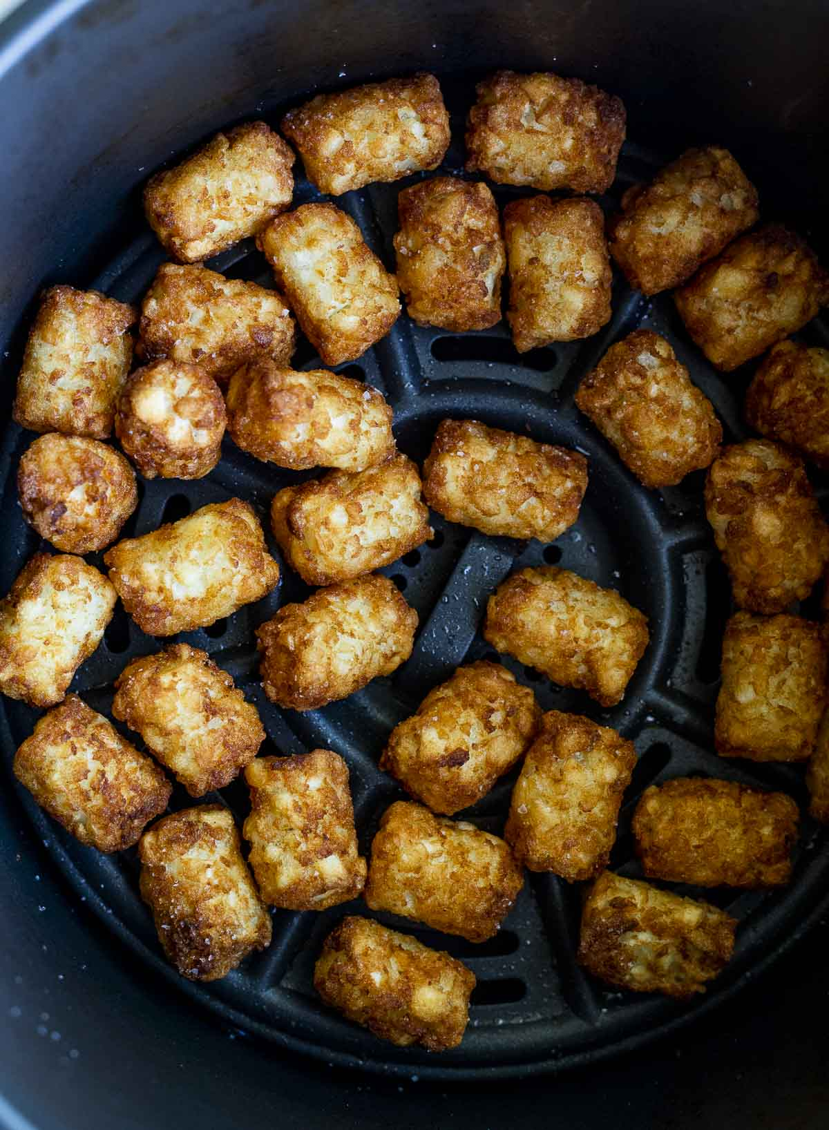 Tater tots in the air fryer.