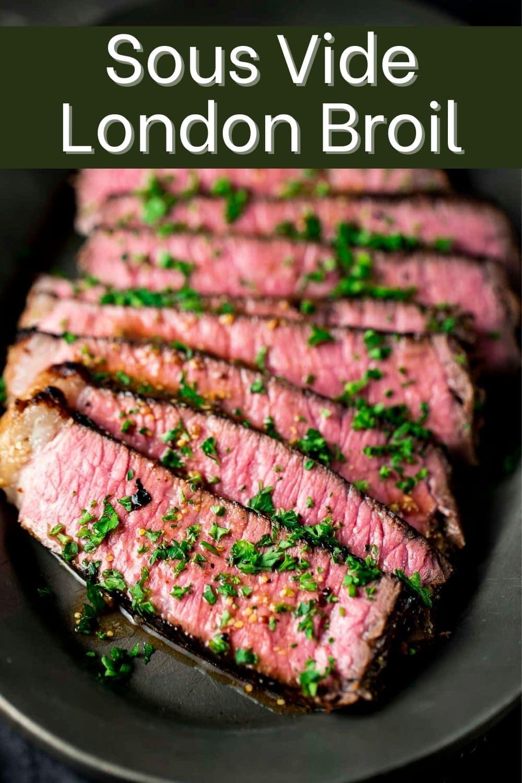 Sous Vide London Broil With Dijon Soy Glaze