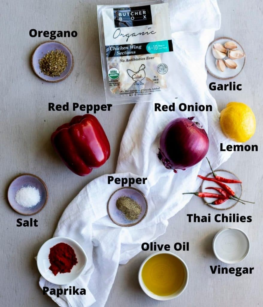 ingredients for sous vide chicken wings